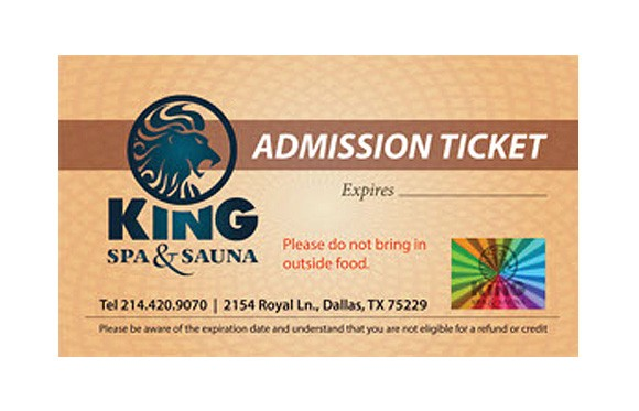 10 Admission Tickets : Spa + Waterpark [No expiration date - Store pickup only]